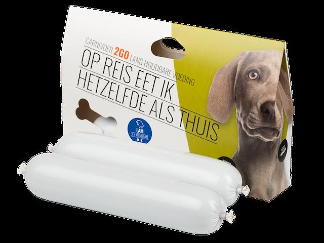 carnivoer2go lam gestoomde voeding voor de hond