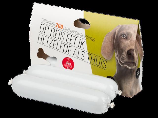carnivoer2go rund gestoomde voeding voor de hond